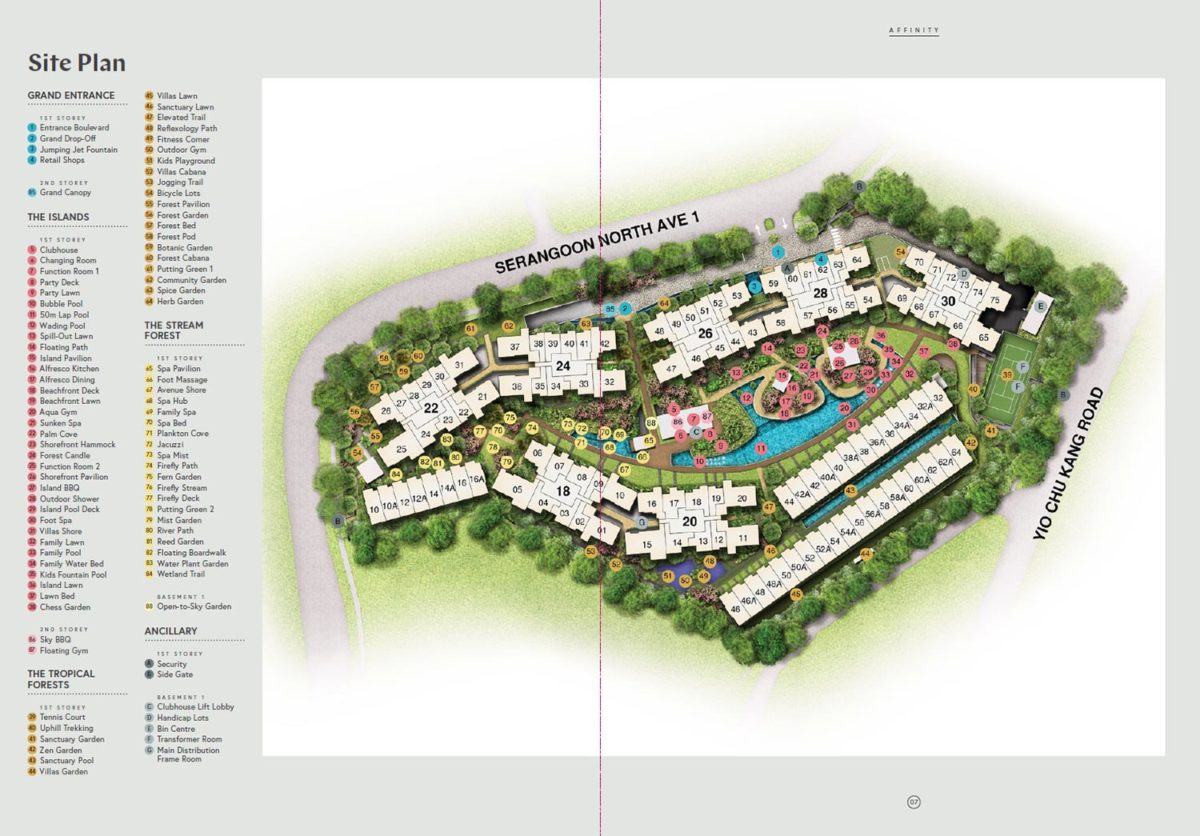 Affinity site plan