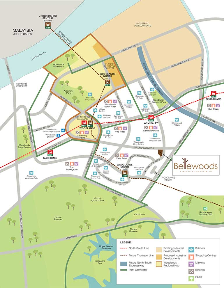 Bellewoods Location map