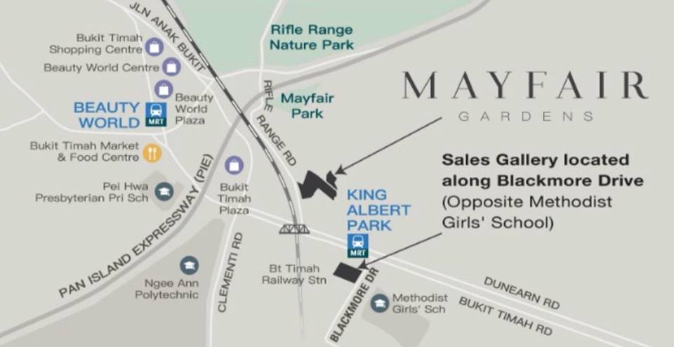 Mayfair Gardens Map