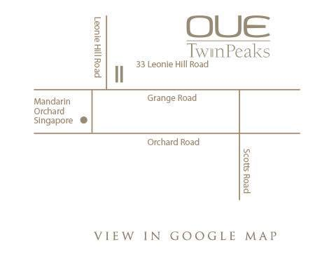 OUE @ Twin Peaks Location map
